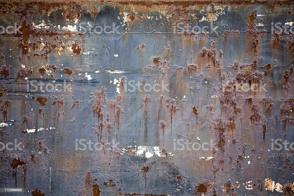 Rusty side of ship; background and texture. royalty-free stock photo