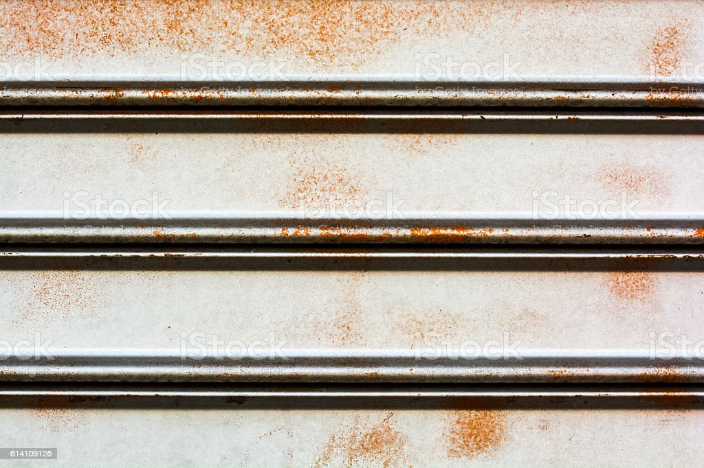 Rusty silver painted metal background stock photo