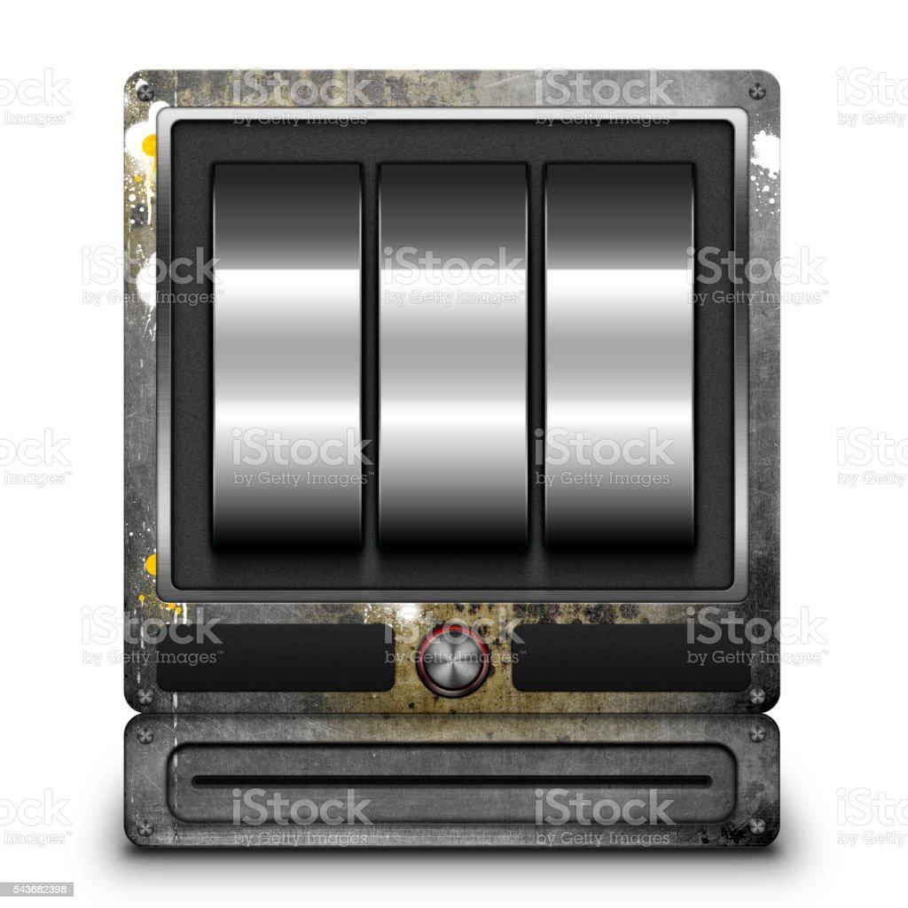 Rusty Slot Machine stock photo