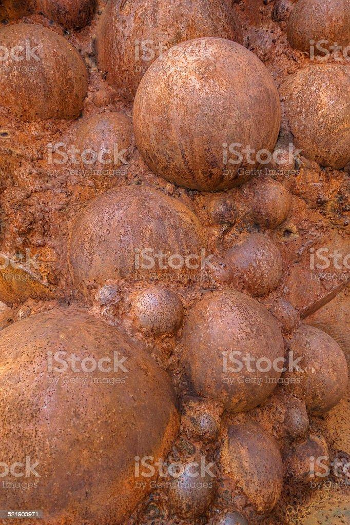 Rusty spheres royalty-free stock photo