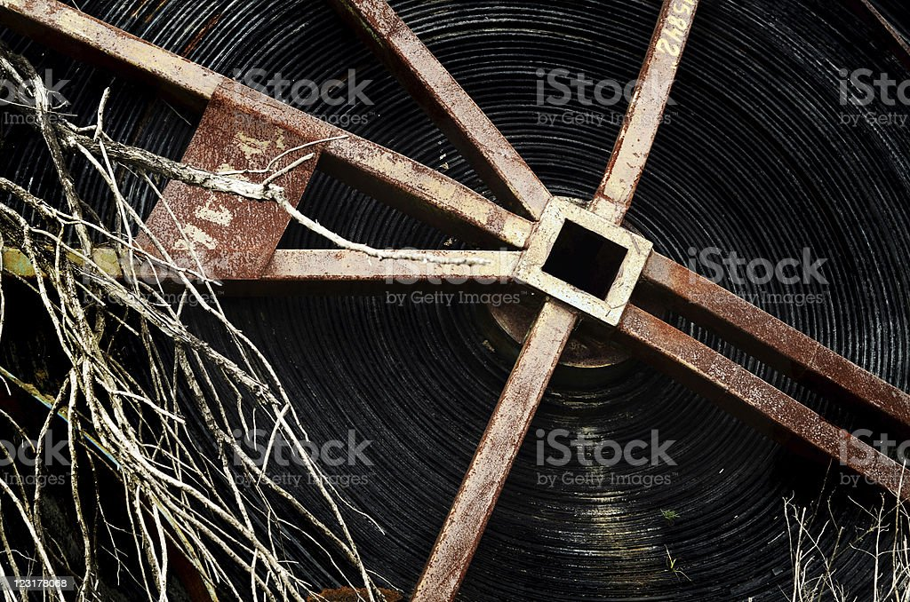 Rusty spool stock photo