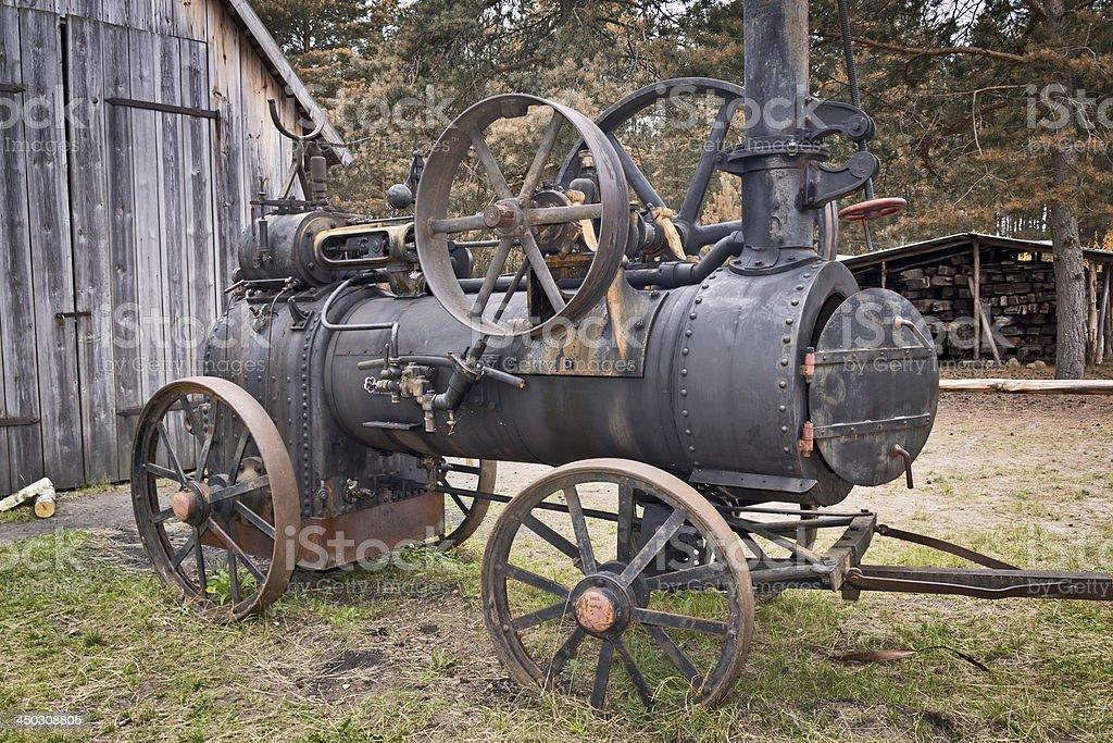 Rusty steam machine stock photo