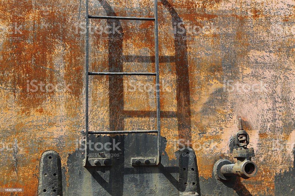 rusty steam train ladder stock photo