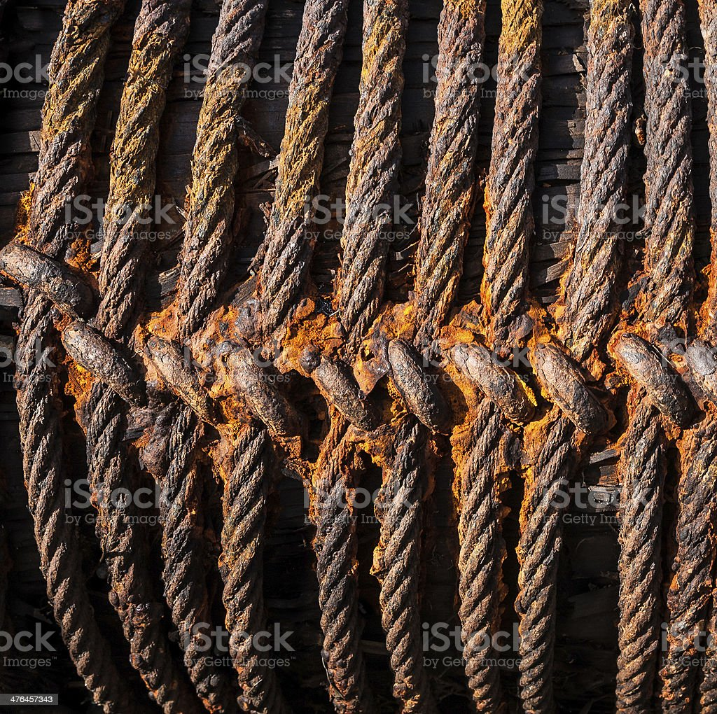 Rusty Steel Cables royalty-free stock photo