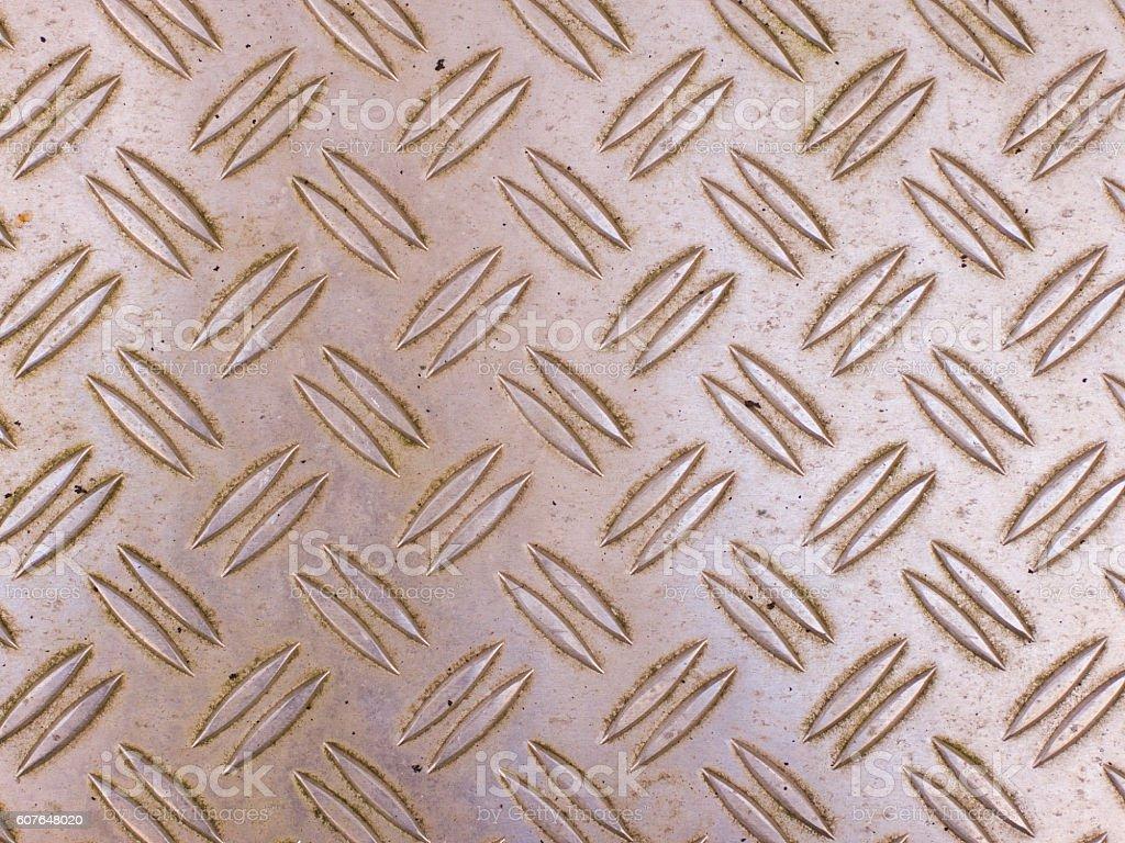 Rusty steel grip metal floor grating stock photo