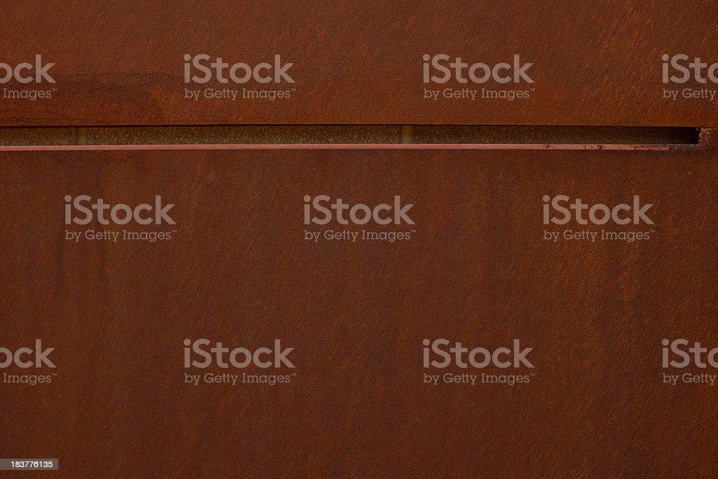 Rusty Steel Wall stock photo