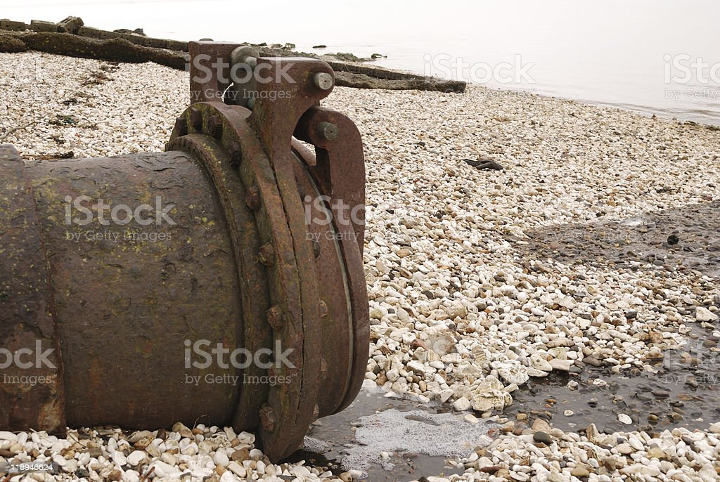 Rusty Storm drain. Side Shot stock photo