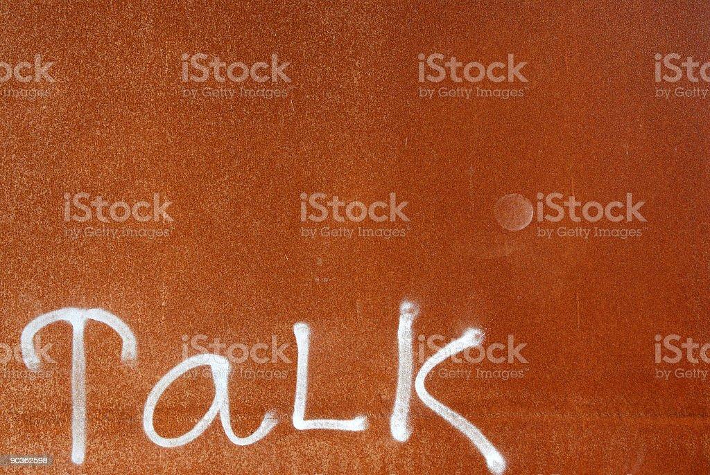 Rusty Talk royalty-free stock photo
