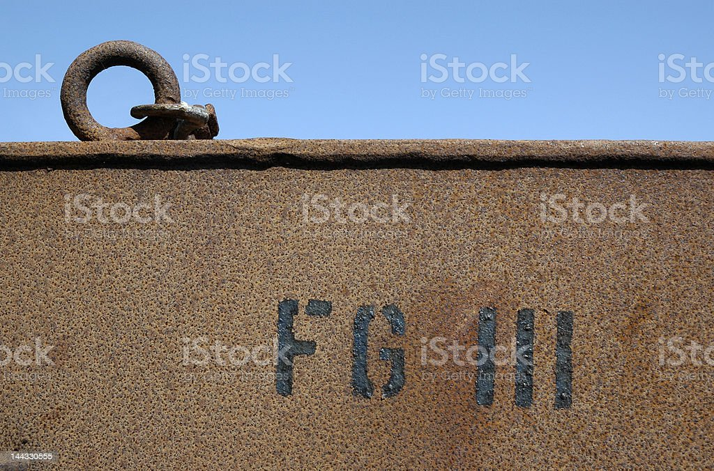 Rusty texture with text royalty-free stock photo