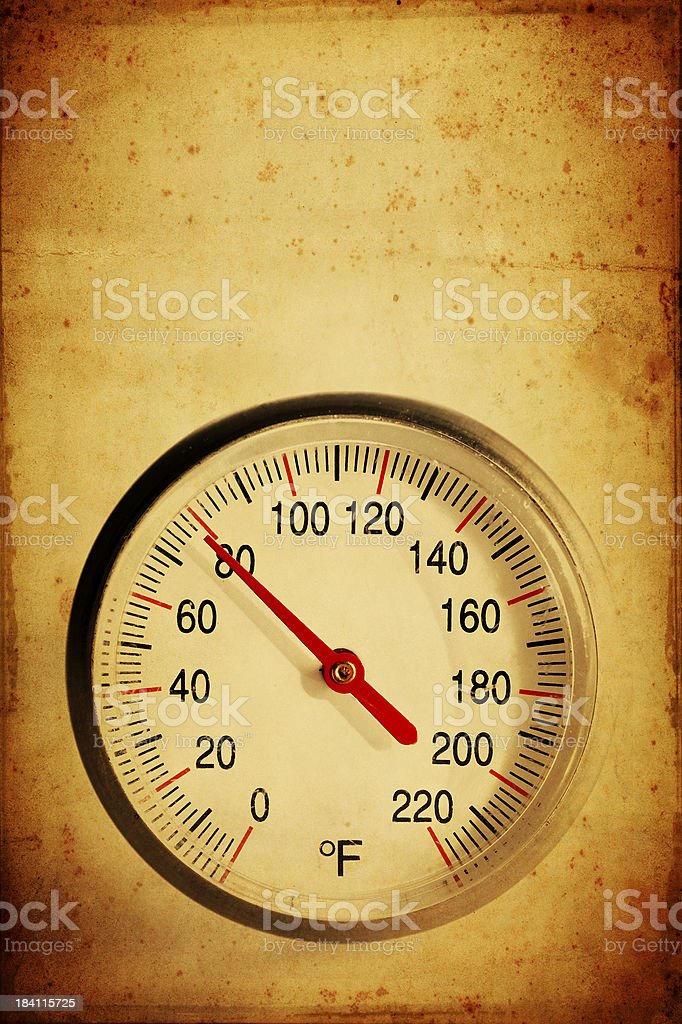 rusty thermometer stock photo