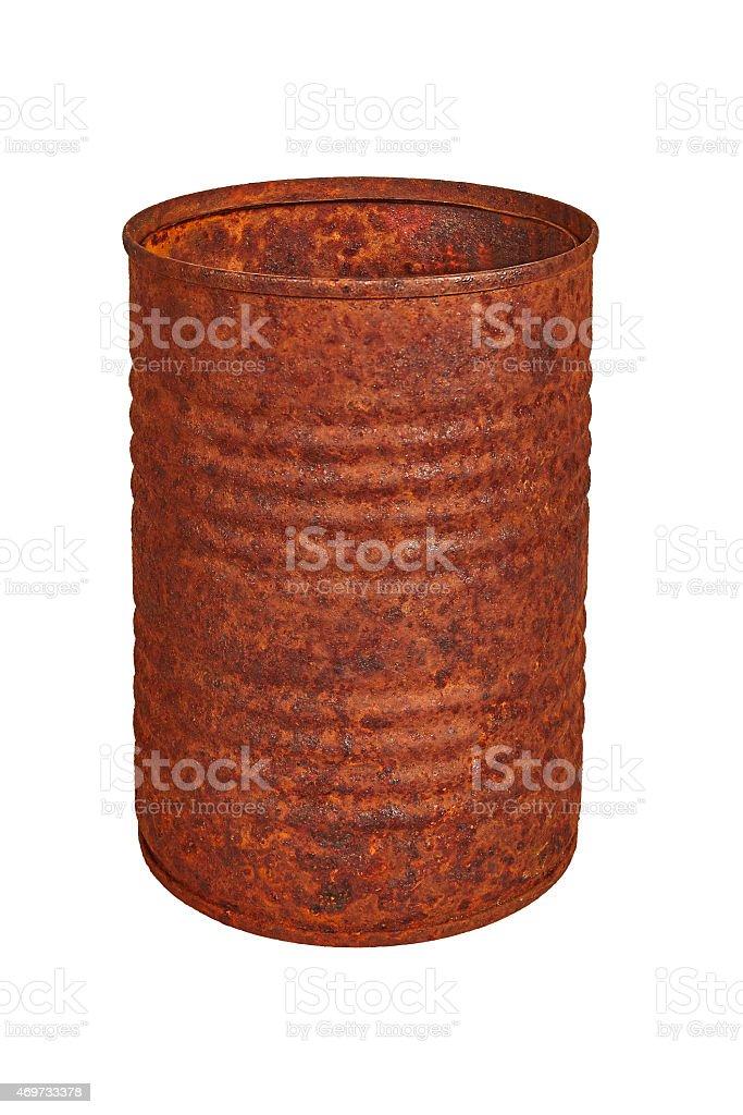 rusty tin royalty-free stock photo
