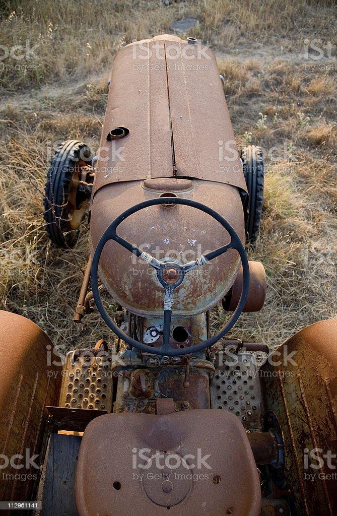 Rusty Tractor stock photo