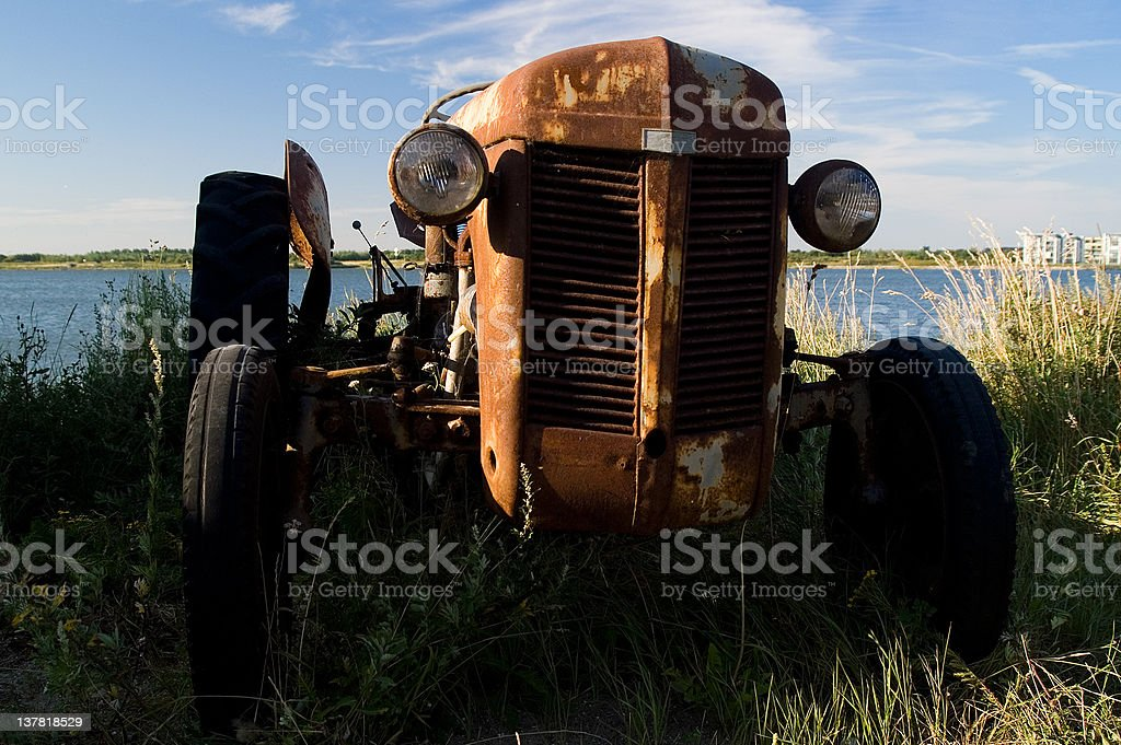 Rusty tractor royalty-free stock photo
