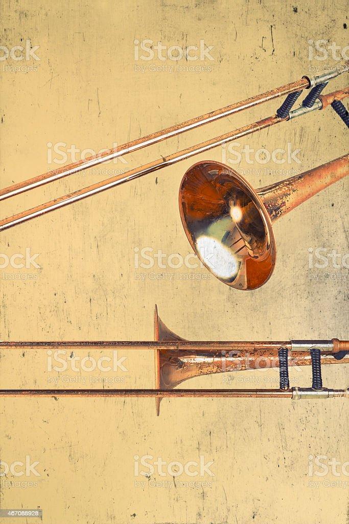 Rusty Trombones stock photo