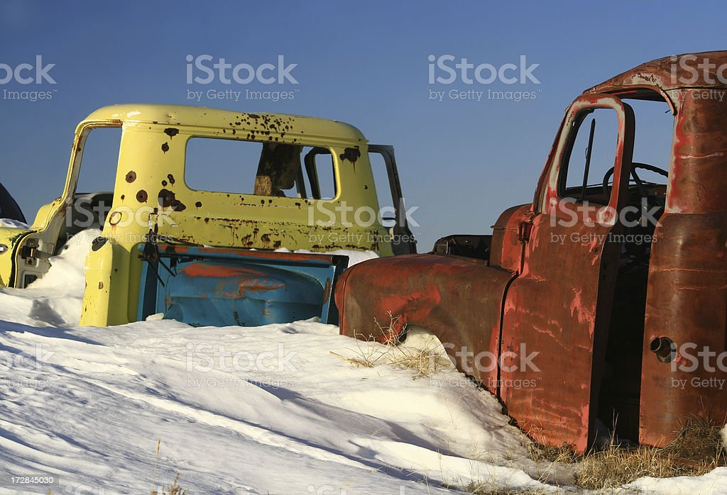 Rusty Trucks royalty-free stock photo