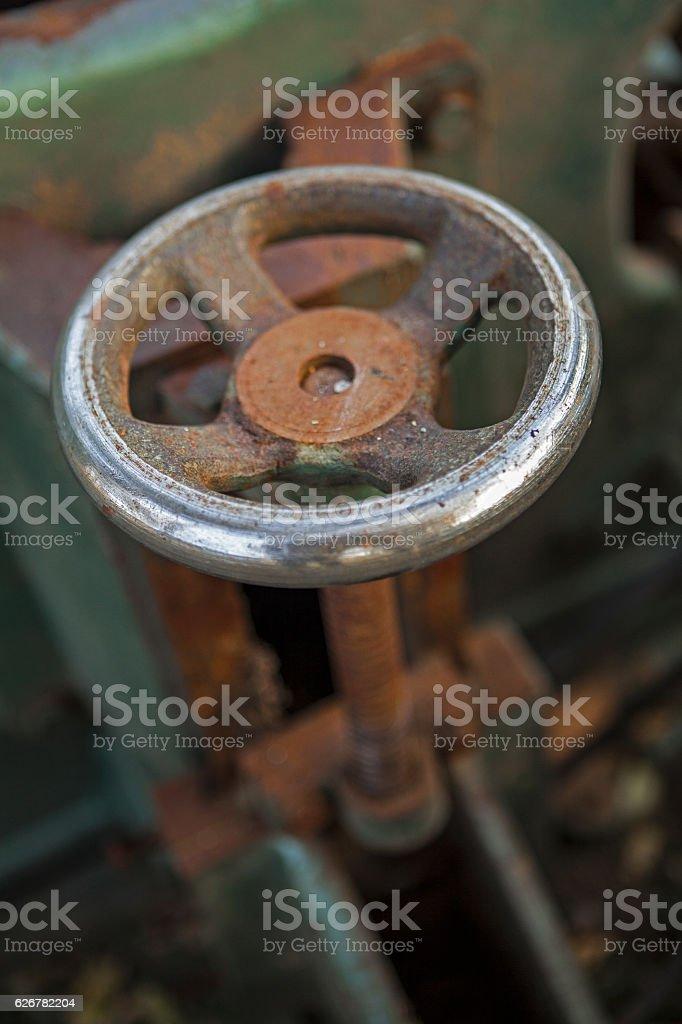 Rusty valve machinery stock photo