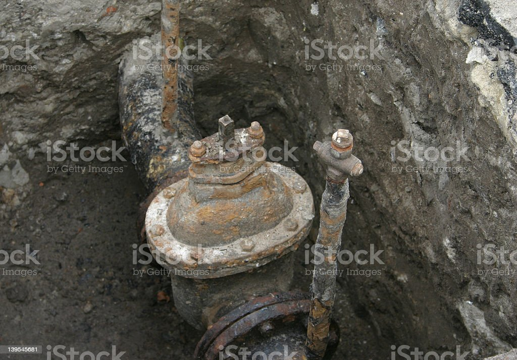 rusty valve royalty-free stock photo