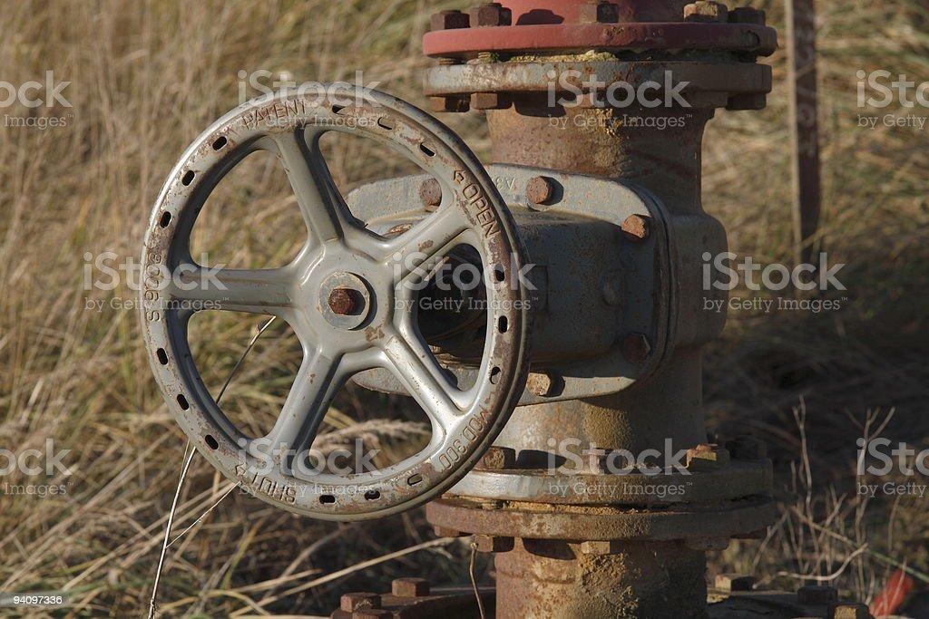 Rostiges Ventil stock photo