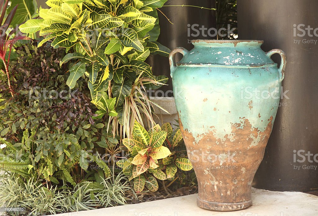 Rusty vase royalty-free stock photo