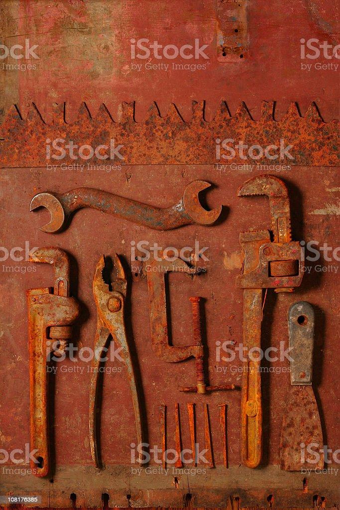 Rusty Vintage Tools royalty-free stock photo