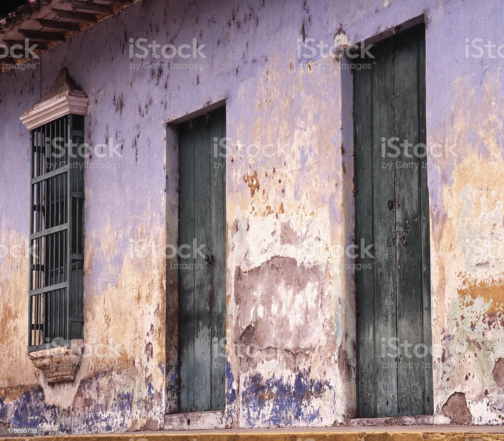 Rusty wall of house royalty-free stock photo