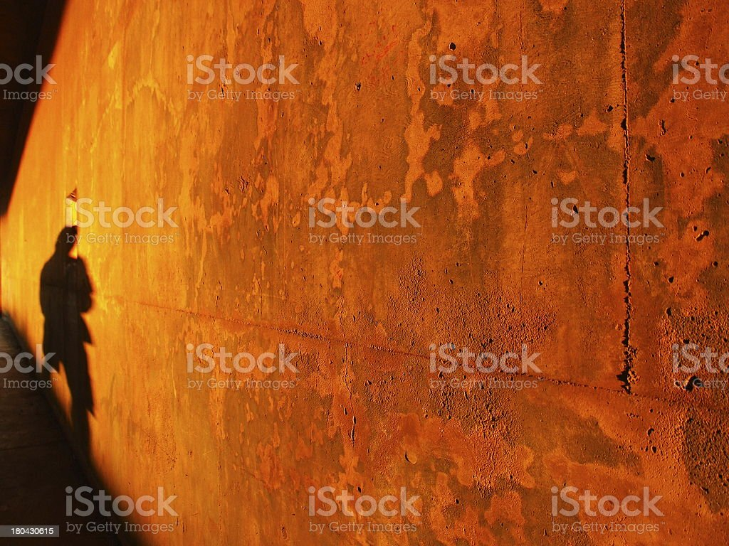 Rusty wall red light background royalty-free stock photo