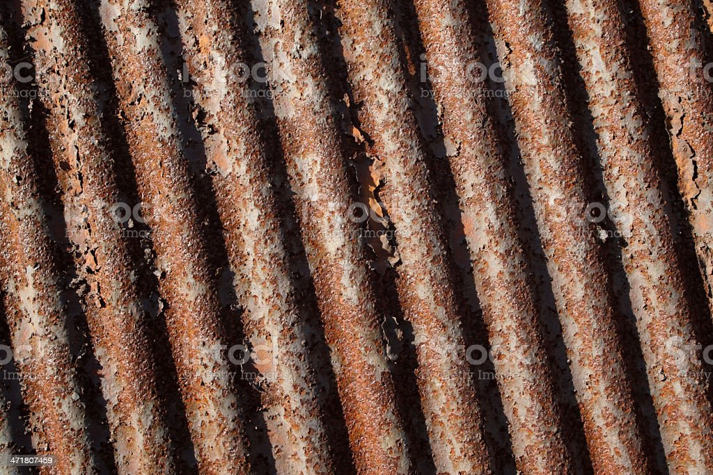 rusty waveform iron plate royalty-free stock photo