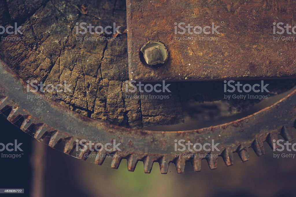Rusty Wheel stock photo