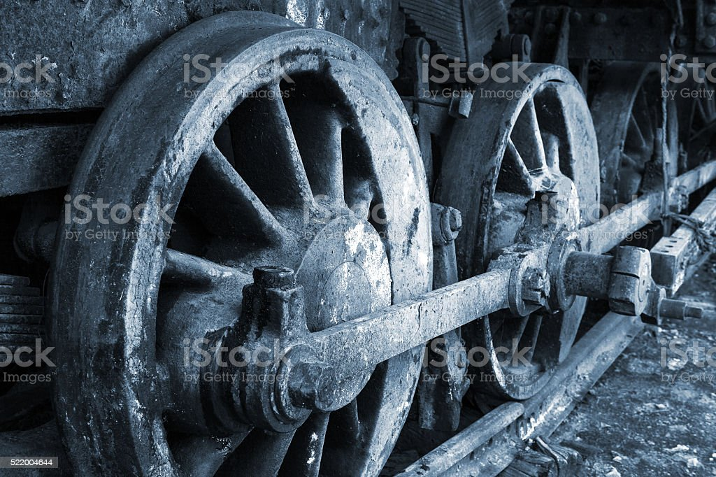 rusty wheel stock photo