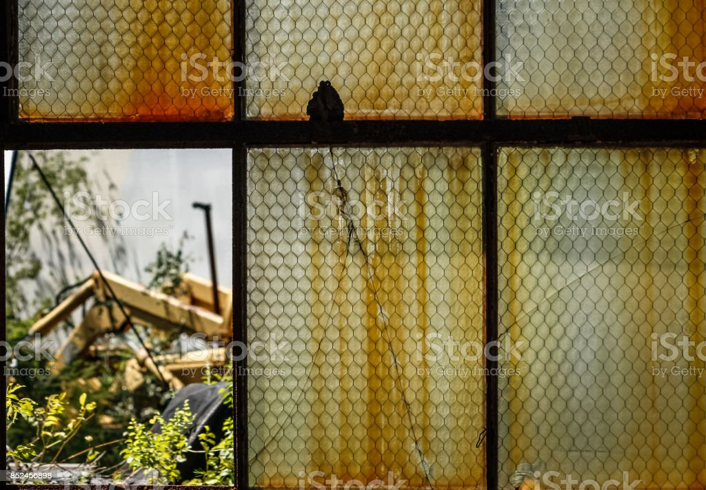 Rusty Window stock photo