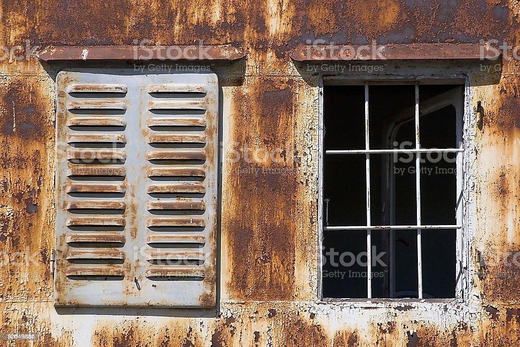 Rusty windows royalty-free stock photo