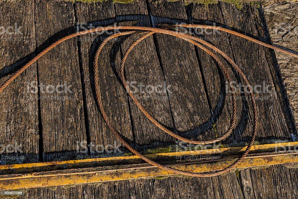 Rusty wire stock photo