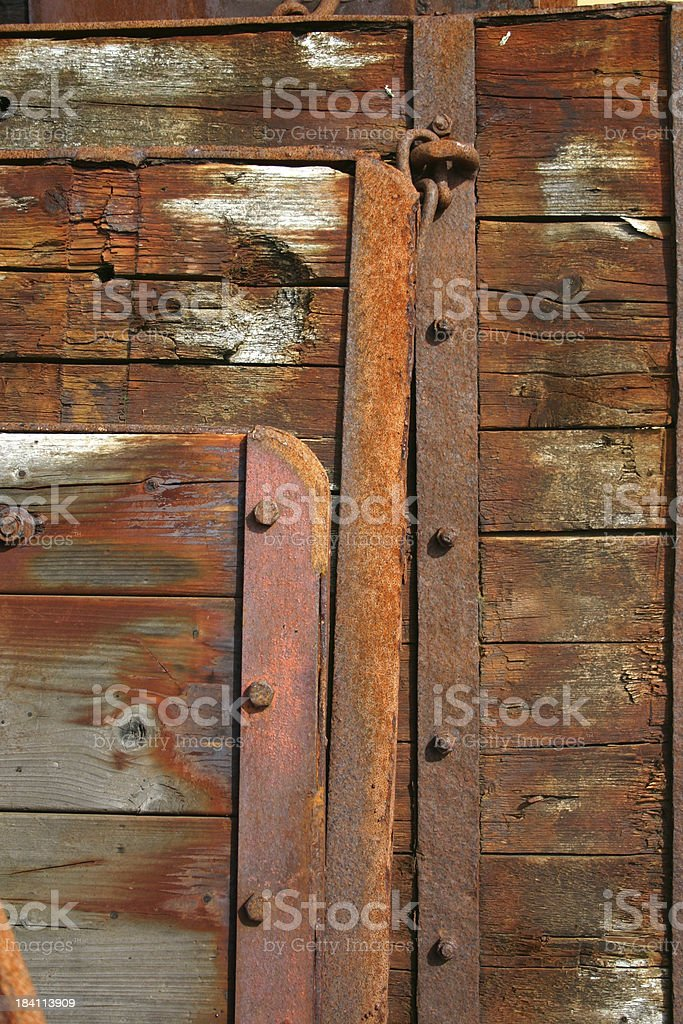 Rusty wood royalty-free stock photo