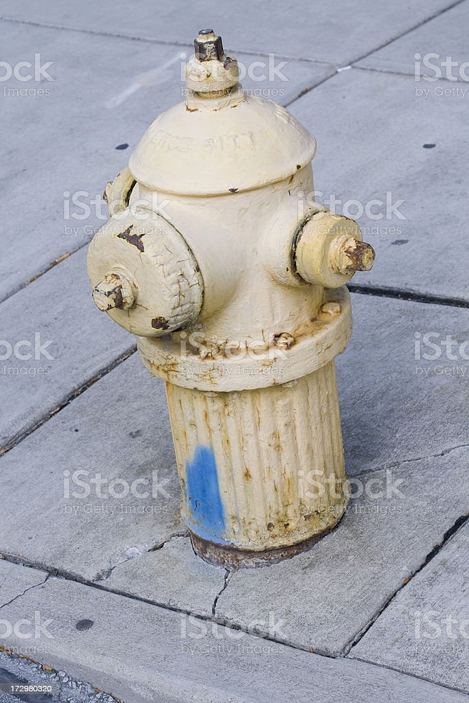 Rusty Yellow Fire Hydrant royalty-free stock photo