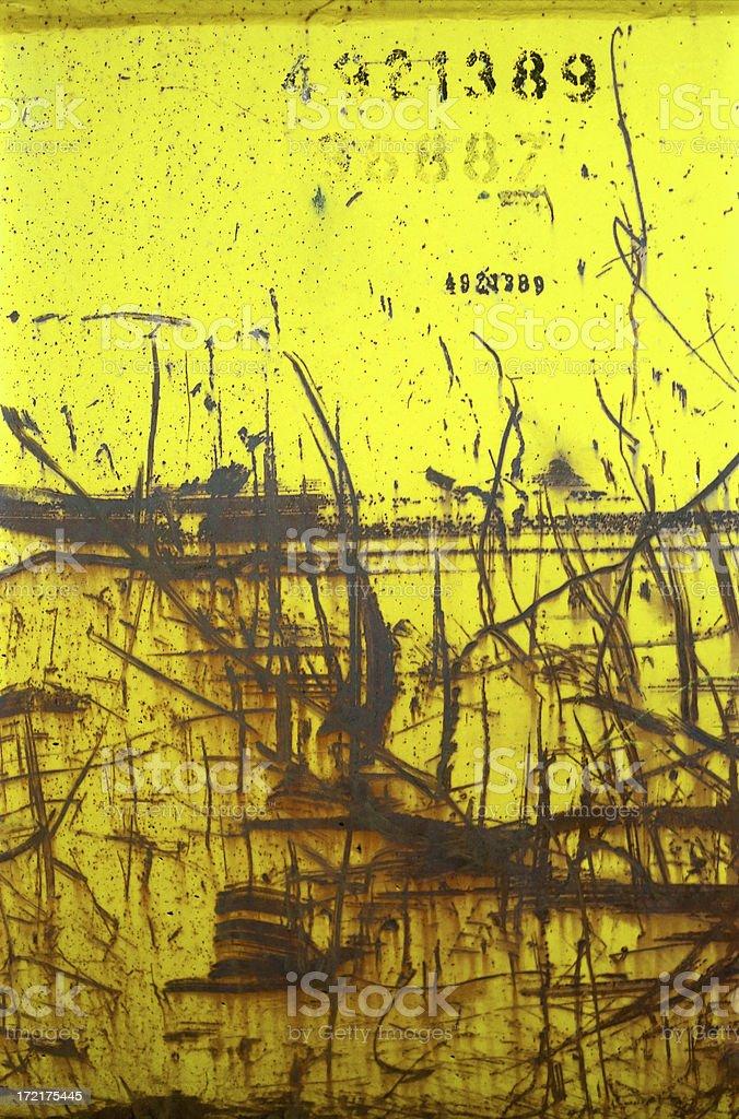 Rusty Yellow Grunge Detail royalty-free stock photo