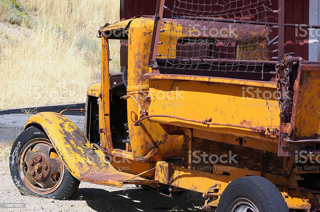 Rusty yellow truck royalty-free stock photo