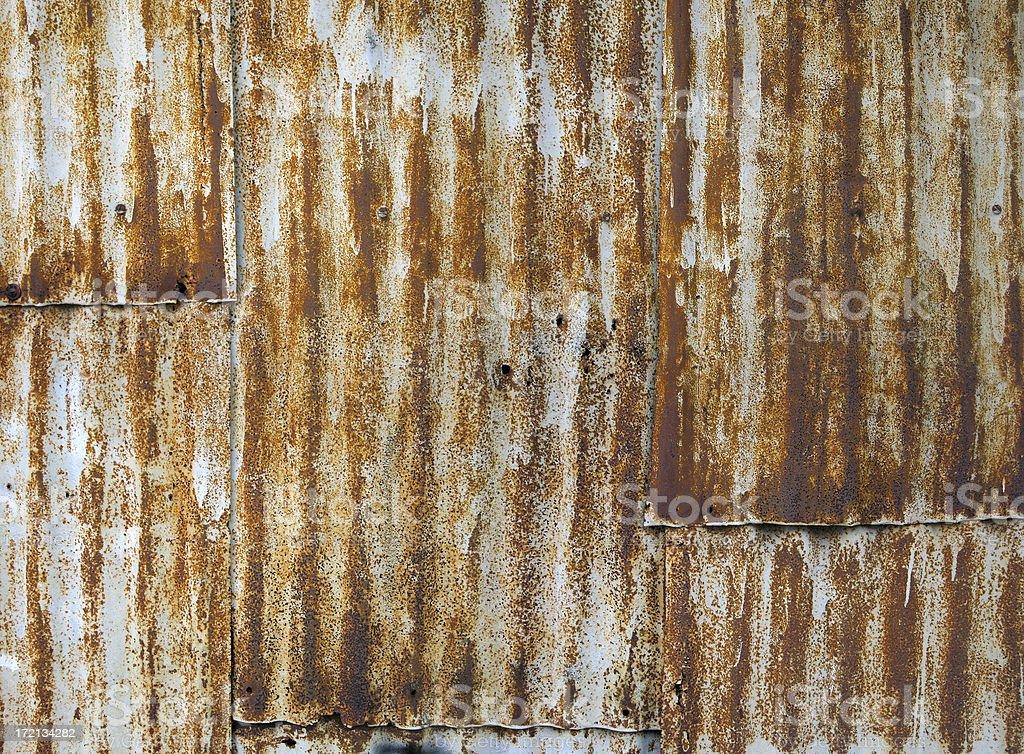 rusty zinc royalty-free stock photo