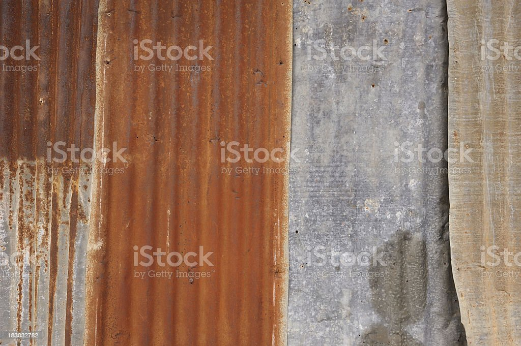rusty zinc royalty-free stock photo