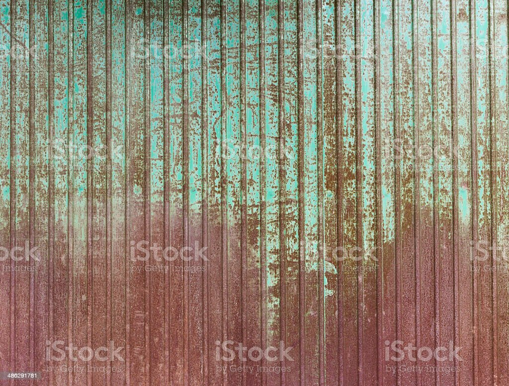 rusty zinc plate wall for background royalty-free stock photo