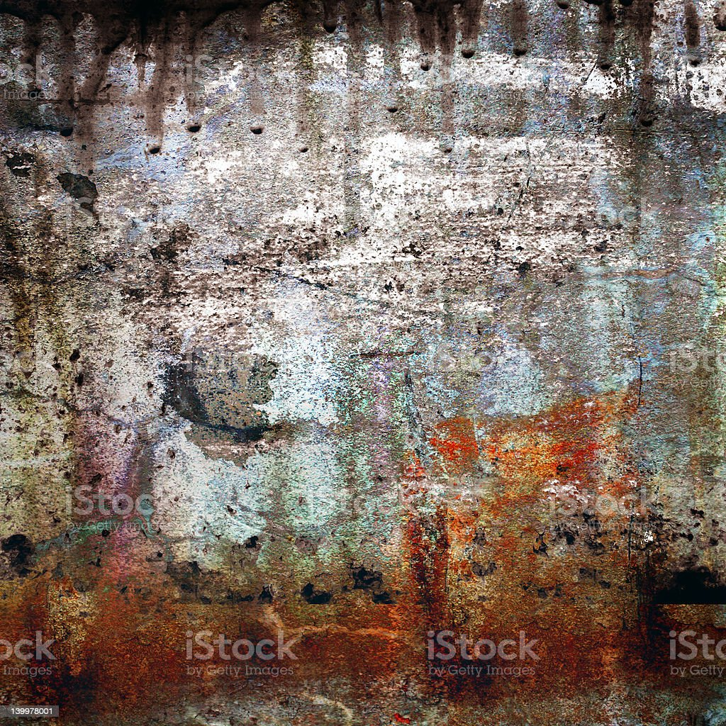 Rusty-colored grunge background royalty-free stock photo