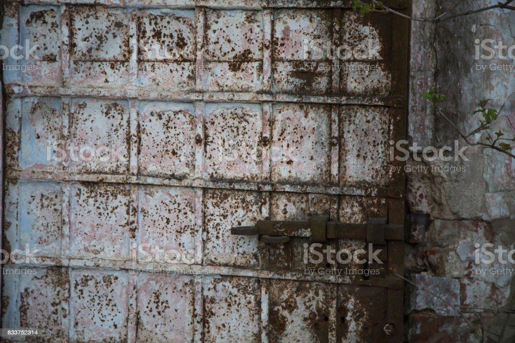 Rusy old paint door vaintage background stock photo