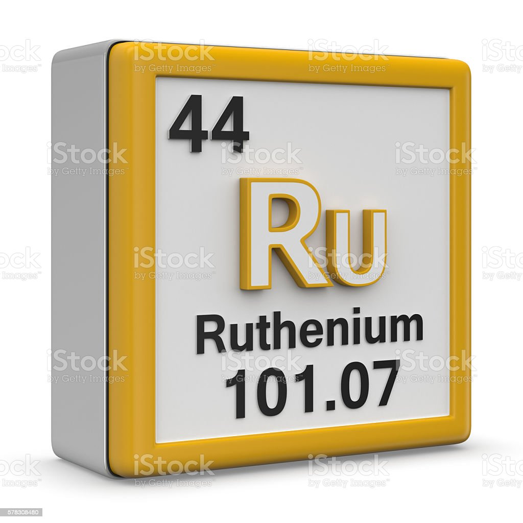 Ruthenium stock photo