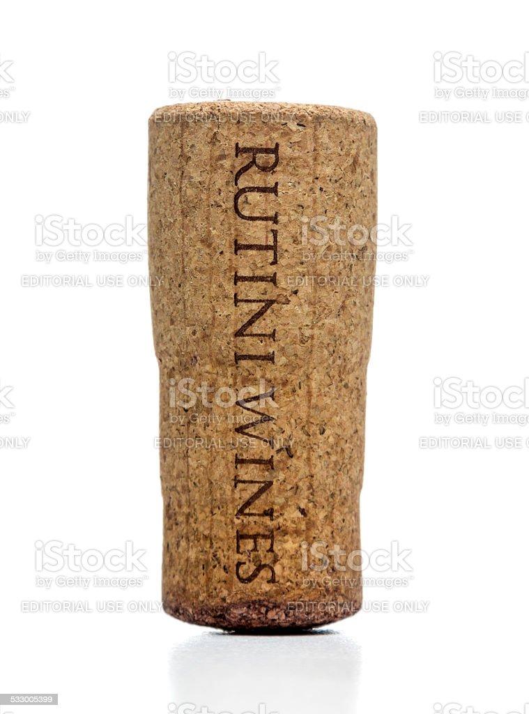 Rutini Wines bottle cork stock photo