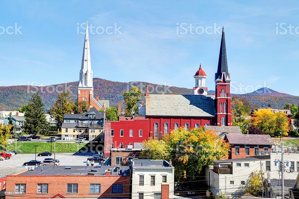 Rutland, Vermont stock photo