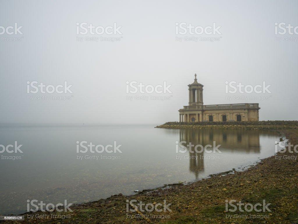Rutland Water Normanton Church stock photo
