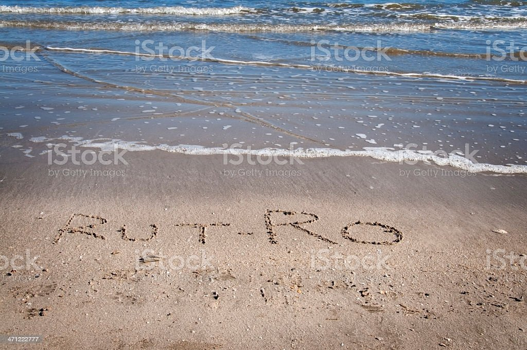 Rut-Ro in Sand royalty-free stock photo