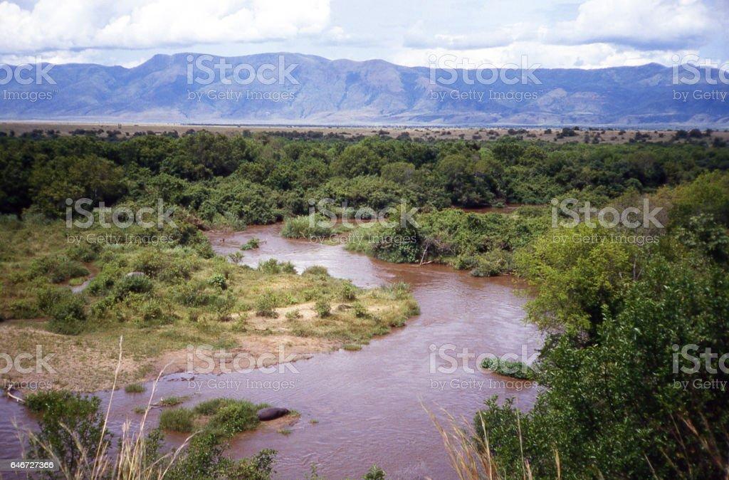 Rutshuru River Virunga National Park Democratic Republic Congo Africa stock photo
