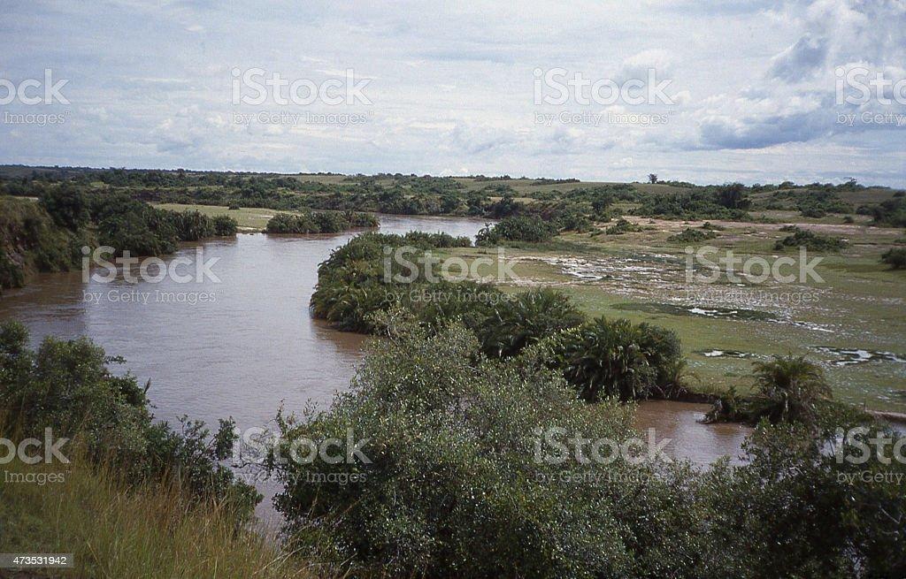 Rutshuru River Virunga National Park Democratic Republic of Congo Africa stock photo