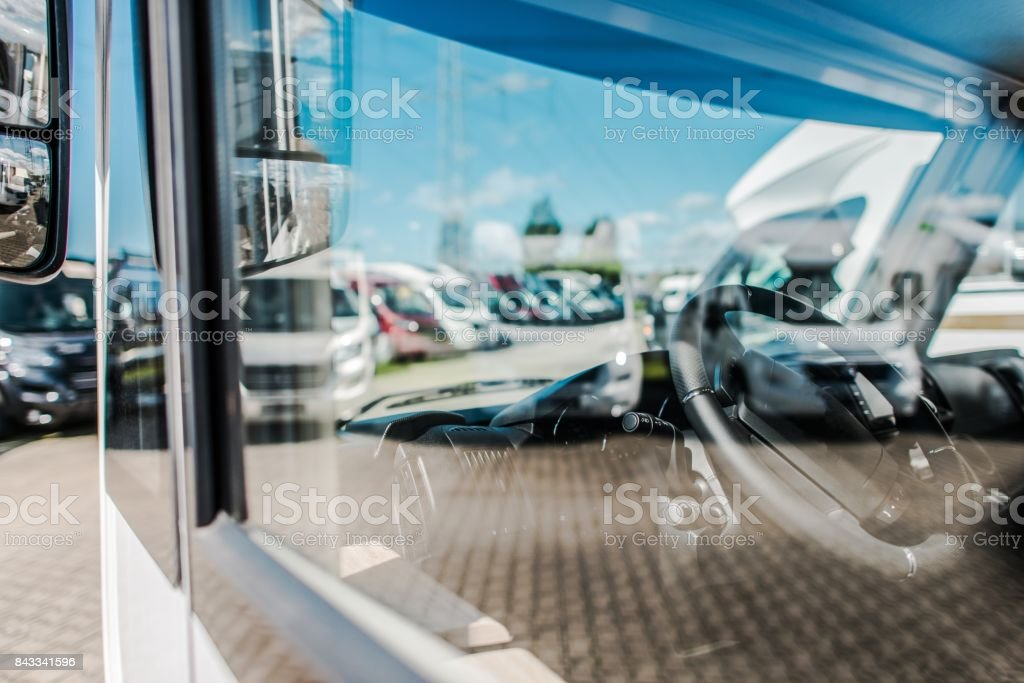 Rving Industry RV Dealer stock photo