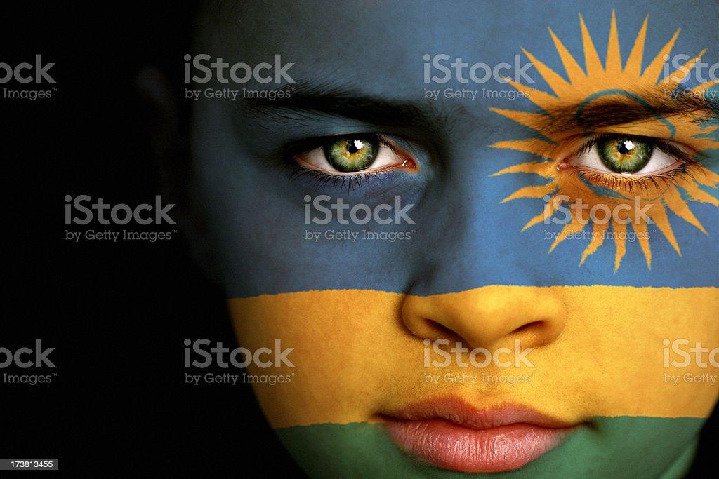 Rwanda flag boy royalty-free stock photo